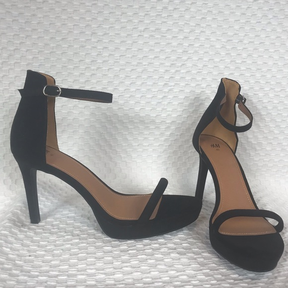19aed1577bb7 H M ankle strap dressy stiletto strappy heel